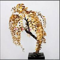 田园铁艺装饰品摆件发财树雕塑工艺品酒店客厅办公室开业金属 60*80公分