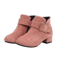 女童靴子2018秋冬季小女孩单靴马丁靴公主鞋儿童高跟短靴加绒棉靴