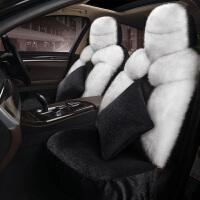 冬季长毛绒汽车座套新保暖毛垫全包围车垫套羊毛人造皮草坐垫