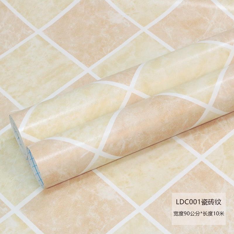 家居生活用品贴纸地板马赛克墙纸自粘壁纸厨房浴室卫生间阳台瓷砖洗手间墙 中 LDCZ001 宽0.9米*长10米