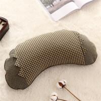 ???韩式小米壳月牙枕荞麦皮枕全荞麦壳护颈枕U型枕头 可拆洗