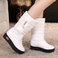 韩版大童棉靴公主靴儿童雪地靴大女孩童鞋秋冬季新款白色女童靴子