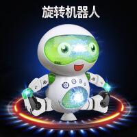 新款创意电动跳舞机器人灯光旋转发光音乐模型