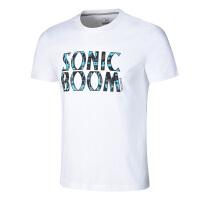 361度正品夏季新款男子圆领短T恤 651721101