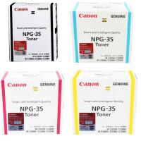 原装佳能/Canon NPG-35 BK黑色墨粉 NPG-35 C青色墨粉 NPG-35 M洋红色墨粉 NPG-35 Y