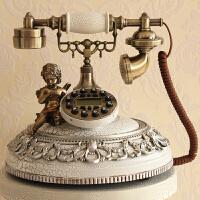 丽盛欧式仿古电话机客厅装饰摆件时尚摆设家用座机固定电话座式 TL0208WS