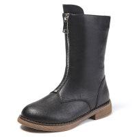 女童马丁靴2018秋季新款英伦风冬加绒二棉童鞋百搭小短靴儿童靴子