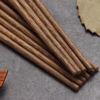 lanpiind郎品鸡翅木筷子铝合金镀铜顶福筷无漆无蜡25cm