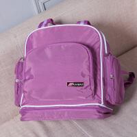 20180522061018811辣妈款妈咪包妈妈母婴双肩包宝宝外出行带孩子出门的包手提包斜挎 紫色 四种背法