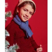 【1件3折到手价:46.77】米喜迪mecity童装男童红色毛衣含羊毛圆领扭花长袖毛衣