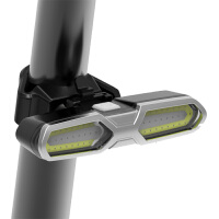 自行车灯山地车配件夜间LED警示灯前灯激光夜骑行装备USB充电尾灯
