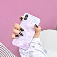 艺术油画iphonex手机壳女款个性苹果8/7plus磨砂硬壳简约6s保护套 iPhone X 紫色艺术油画