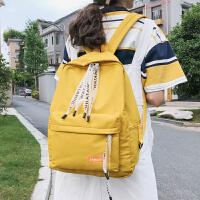 书包女大学生双肩包高中时尚透明清新背包