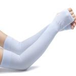 夏季防晒手套 薄长款 袖套户外跑步男士冰袖冰丝 女开车骑行手臂套袖