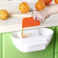 橱柜门挂式垃圾收纳盒厨房用品创意无盖盒子桌面塑料置物盒储物盒