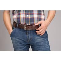 皮带男 青年头层牛皮男士腰带真皮针扣简约复古学生时尚裤带潮