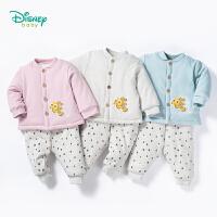 迪士尼Disney童装宝宝衣服秋冬新品卡通小丑鱼保暖外出服男女童可开档加厚夹棉套装184T829