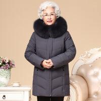 №【2019新款】送中老年的人女装妈妈装2018新品连帽宽松加厚羽绒服奶奶装60岁70外套