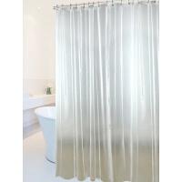 家居生活用品卫生间磁浴帘套装免打孔防霉加厚浴室隔断帘子淋浴挂帘 +直杆140-260