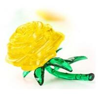 3D立体水晶拼图模型DIY积木发光红苹果拼装生日礼物动物拼图
