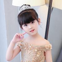 新款女童公主裙演出配饰小花童伴娘皇冠儿童婚纱发饰宝宝发箍头饰 花色 图片色