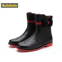 【3件3折价:89.7】巴拉巴拉儿童靴子女童冬季鞋新款保暖中筒靴冬季鞋潮中大童鞋