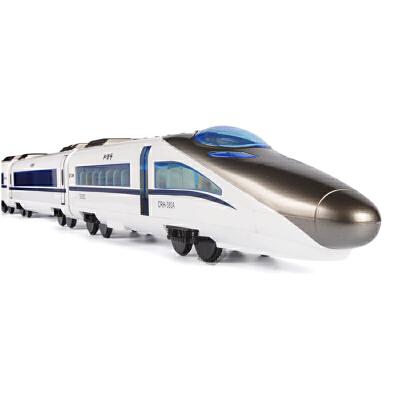 双鹰充电动遥控车高铁火车玩具车儿童和谐号超大仿真动车模型男孩 一键开门 加速减速 语音报站