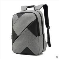 精美拼色户外旅行背包商务双肩包拼接几何电脑包双肩男士休闲大学生书包