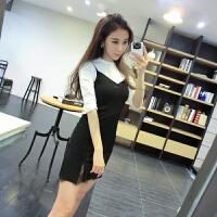 时尚套装女秋新款韩版学生吊带裙子打底衫名媛初秋时髦两件套