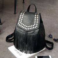 双肩包女士包包潮韩版pu皮时尚个性铆钉休闲背包女包