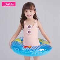 【4件2折价:51.8】笛莎童装女童泳衣夏季新款中大童儿童可爱印花宝宝连体泳衣