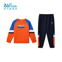 【1件5折到手预估价:150】361童装男童针织套装2021秋季新品中大童运动休闲套装 N52131405