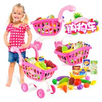 【悦乐朵玩具】儿童早教益智仿真超市购物车手推车过家家送男孩女孩玩具3-6岁生日六一儿童节礼物