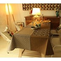0725063324942韩式棉麻咖啡厅桌布布艺餐桌布客厅茶几台布酒吧书桌布 摩卡时光