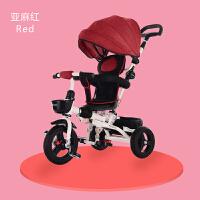新款折叠儿童三轮车脚踏车1-3-5岁婴儿手推车宝宝自行车旋转座椅