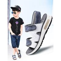 男童凉鞋夏季新款中大童真皮沙滩鞋小童软底儿童学生童鞋