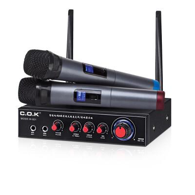 ?C.O.K W-801无线话筒 电视电脑k歌家庭ktv卡拉OK手机蓝牙麦克风?