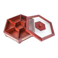 实木糖果盒瓜子盘 新年新品干果盘婚庆用品中式喜糖盒10寸