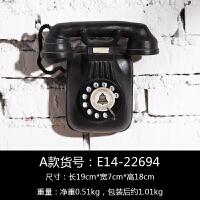 欧式复古做旧电话机壁挂创意家居壁饰挂饰酒吧咖啡厅店铺墙面装饰