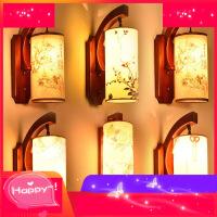 中式客厅壁灯实木仿古书房卧室床头灯具现代古典酒店过道走廊壁灯4ib