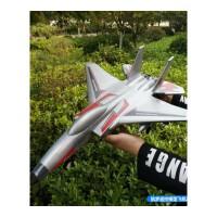 遥控飞机滑翔机战斗航模玩具超大EPP泡沫固定翼直升无人机 抖音 银色 太空铝银