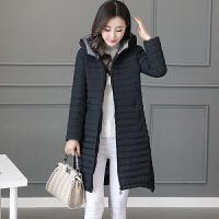 大码棉袄妈妈外套羽绒棉衣女中长款新款韩版冬装 M 85-100斤