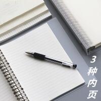 苏铁时光小方格空白横线活页本A5B5大笔记本子绘画网格手账本