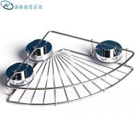 不锈钢吸盘墙角架 无痕强力吸盘卫生间浴室三角置物架卫浴转角吸壁挂式 置物架一个