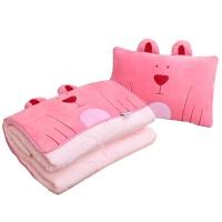 卡通汽车抱枕被子两用大号 办公室靠垫被 沙发靠枕头被空调被