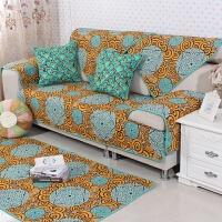 四季通用全棉布艺沙发垫防滑坐垫田园夏季沙发巾组合全包沙发套罩