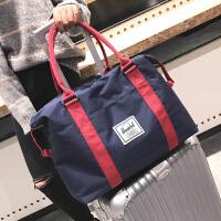 小行李包女短途旅行包男韩版帆布迷你轻便手提行李袋简约旅游包潮 大