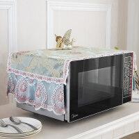 布艺美的格兰仕微波炉罩子盖布烤箱套防油防尘帘厨房家用通用盖巾