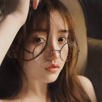 2018年新款防护眼镜女圆形复古眼镜框无度数眼睛圆框平面镜韩版眼镜架男潮流
