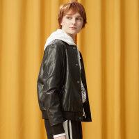 【1件2.5折到手价:62.3】美特斯邦威夹克女秋季新款棒球式时尚短外套